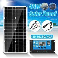 40W 18V Doppel USB Solar Panel Zelle Modul Batterie Auto Boot Camping Im Freien