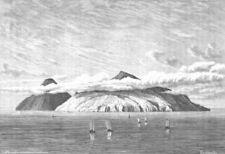 JAPAN. Paramushir Island-Kuriles c1885 old antique vintage print picture