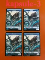 4x Kraken | TOKEN 006/013 | Ikoria Lair of Behemoths | MTG Magic Cards
