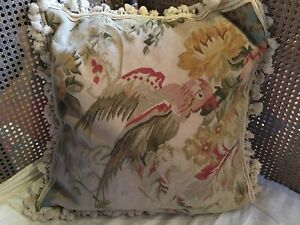 AUBUSSON TAPESTRY PILLOW/ COVER