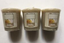 YANKEE CANDLE SUGARED PUMPKIN SWIRL LOT OF 3 WRAPPED VOTIVES HTF SCENT