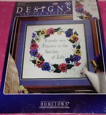 DESIGNS FOR THE NEEDLE CROSS STITCH KIT- PANSIES- FRIENDS ARE FLOWERS IN GARDEN