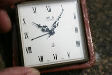 Vintage ORIS 7 Jewels 8 Day Travel Alarm Clock - Working - Swiss Made