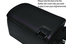 PURPLE STITCH ARMREST LID LEATHER SKIN COVER FITS TOYOTA SUPRA MK4 98-02 STYLE 2