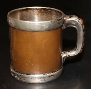 Tiffany & Co Miniature Arts & Crafts Baby's Sterling Silver and Copper Mug