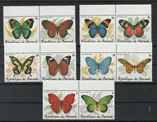 Burundi, 1968 Butterflies 1630-39A Pairs, (27914)