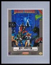 Dragon Warrior II 1990 NES Nintendo 11x14 Framed ORIGINAL Advertisement