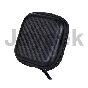 Carbon Fibre Stye Zip Storage Bag Case For Earphone Headphone Earbuds SD Card