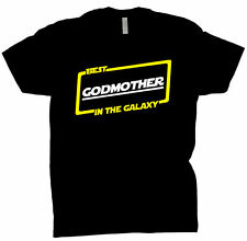 Best Godmother In The Galaxy Shirt Gift Tee T Shirt Black T-Shirt