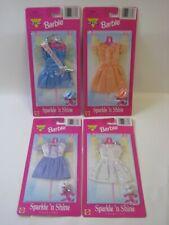 1997 Mattel Barbie 4x Sparkle 'n Shine Outfits 68567 MOC #PC335