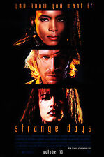 STRANGE DAYS (1995) ORIGINAL MOVIE POSTER  -  ROLLED
