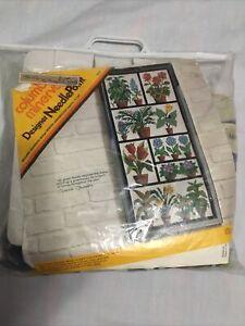 Winter Greenhouse Needlepoint Kit Columbia Minerva, Open & Partially Worked