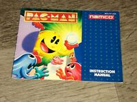 Pac-Man Namco Instruction Manual Booklet Nintendo Nes Authentic