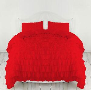 Egyptian Cotton 800TC Ruffle Duvet Cover Set All Size & Color