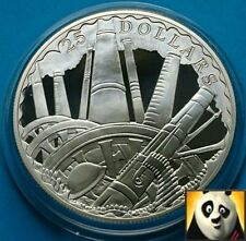 2008 Isole Salomone $25 DOLLARI WWI ANNIV. CANNONE in battaglia argento Proof Coin