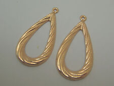 Earring Jackets S1100 Made In Usa Solid 14k Pink Rose Gold Large Fancy