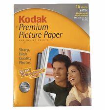 Kodak Premium Picture Paper - Satin - Acid Free - 12 Sheet package