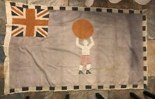 1930s-40s Asafo Flag Made By Kweku Kakanu Man Holding World On Head Strength