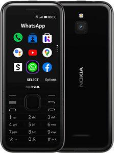 """New Nokia 8000 Black 2.8"""" 4GB LTE 4G KaiOS Sim Free Unlocked UK"""