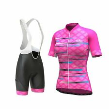 Women's Pro Series Pink Cycling Short Sleeve Jersey, Bib Shorts, or Kit Bundle