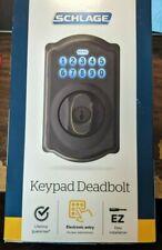 Schlage EZ Install Electronic Entry Keypad Deadbolt BE365 V CAM 716 NEW, OPEN BO
