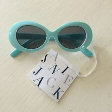 New Janie and Jack Teal Oval Vintage Style Sunglasses - 2-4 Years