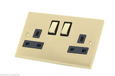 2-Gang Standard Wall Socket Home Electrical Fittings