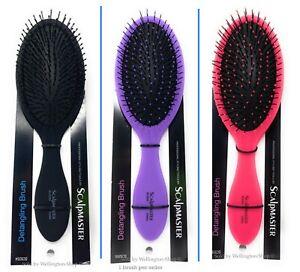 Scalpmaster Detangling Cushioned Brush Detangle Brush Hair Brush Black 1 Pc.