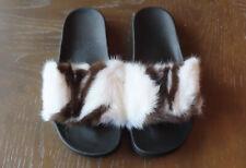 LV fur slides women