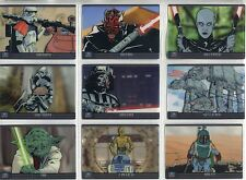 Star Wars Galaxy 7 Complete Retail Exclusive Cell Chase Card Set 1-9