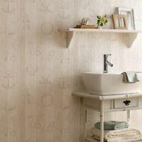 Superfresco Easy Paste the Wall Seaside Nautical Beige Wood Grain Wallpaper