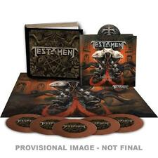 TESTAMENT BROTHERHOOD OF THE SNAKE 5 ep's cd booklet pin poster flag box set