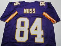 RANDY MOSS / NFL HALL OF FAME / AUTOGRAPHED MINNESOTA VIKINGS CUSTOM JERSEY COA