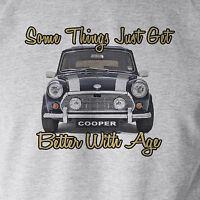 Somethings...60's Mini Cooper Cult Classic Car Retro Sport Grey T-Shirt