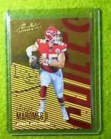 PATRICK MAHOMES CARD JERSEY #15 KANSASCITY CHIEFS 2018 Panini Absolute GOLD FOIL