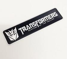 Car Black Metal Decepticon Transformers Trunk Motorcycle Badge Emblem Sticker
