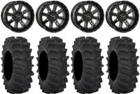 "System 3 ST-4 Black 14"" Wheels 28"" XM310 Tires Can-Am Maverick X3"