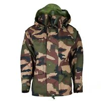 Genuine French army waterproof trilaminate jacket CCE camo hooded rain parka NEW