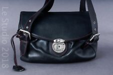 MARC JACOBS Vintage Black Leather Shoulder Bag w/ Lock and Two Keys.  Beautiful!