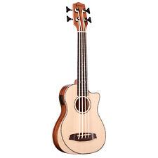 Muzikkon Heartland Baritone Ukulele Bass Acacia with EQ