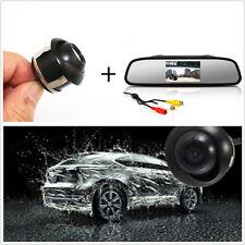 "Mini 360° CCD HD Backup Parking Camera + 4.3"" TFT LCD Rearview Mirror Screen"
