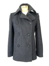MINTY J Crew Charcoal Gray Wool Blend Military Peacoat Double Breasted Coat S