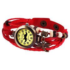 Alain Miller trendy Damenuhr mit Echtlederarmband, rot