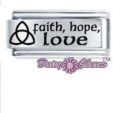 18mm DAISY CHARM Italian Charm - CELTIC - FAITH, HOPE