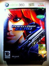 PERFECT DARK ZERO XBOX360 LIMITED EDITION SEALED RARE SIGILLATO