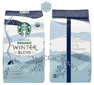 FRESH STARBUCKS ORGANIC HOLIDAY WINTER BLEND WHOLE BEAN COFFEE 40OZ 2.5LB MEDIUM
