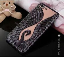 Fashion 3D Soft Swan Wings Plating  Back Case cover for iPhone6/6s/7/Plus