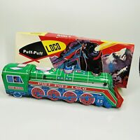 Vintage Puff Puff Loco Battery Operated Toy Train In Original Box (H)