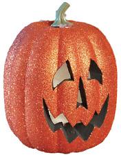 Halloween Large Glittery Orange Light Up Pumpkin Party Decoration Accessory