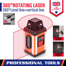 360° Self Auto Leveling  Laser Level Rotary Cross Tripod Detector Magnetic Base